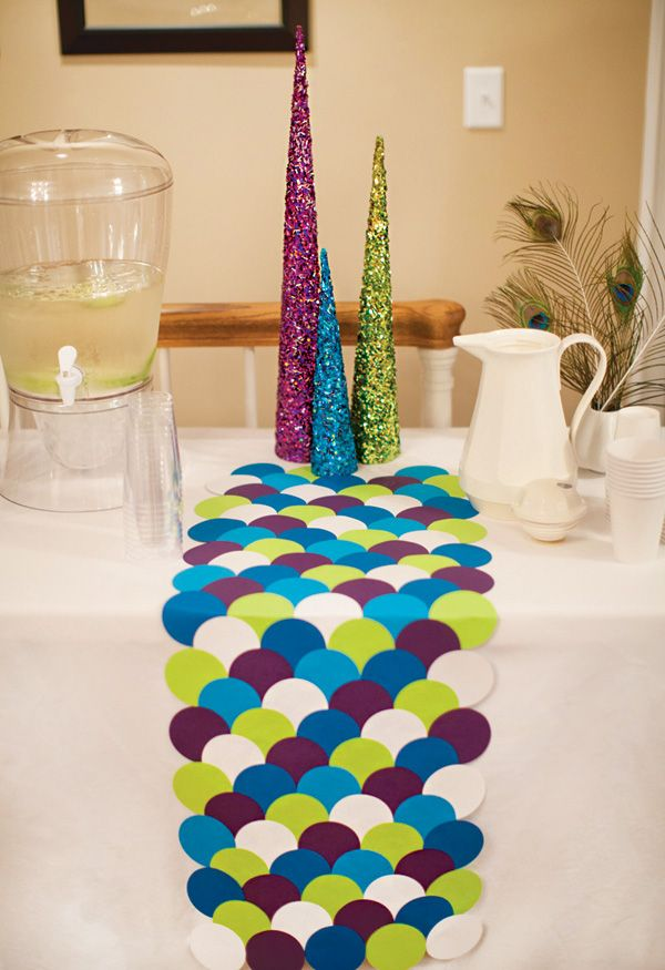 modern peacock baby shower blue green purple hostess with the