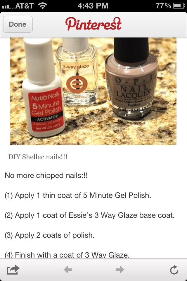 Do it yourself Gel Nails | Beauty | Pinterest