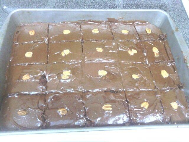 Pecan fudge brownies   Dessert ideas   Pinterest