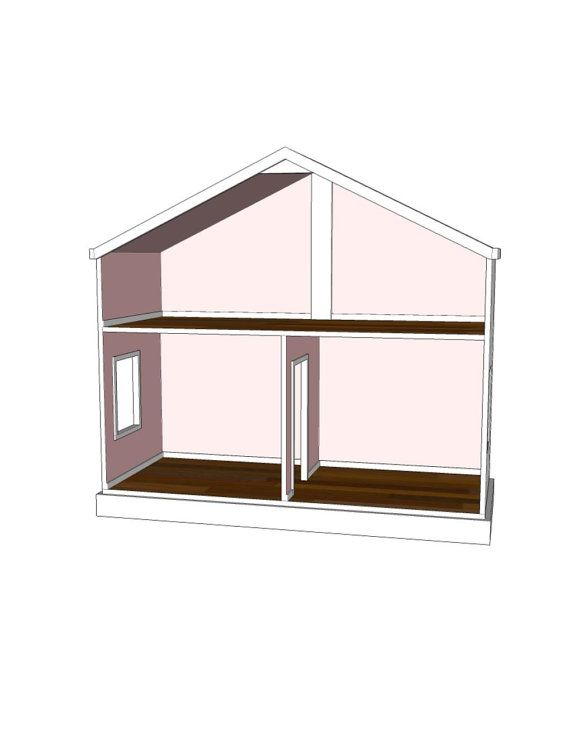 Doll House Plans For American Girl Or 18 Inch Dolls 3