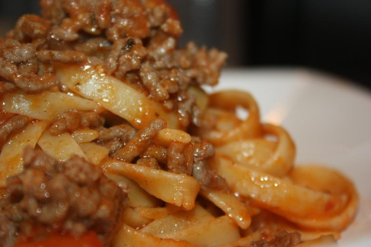 fettuccine bolognese | Food & Drink | Pinterest