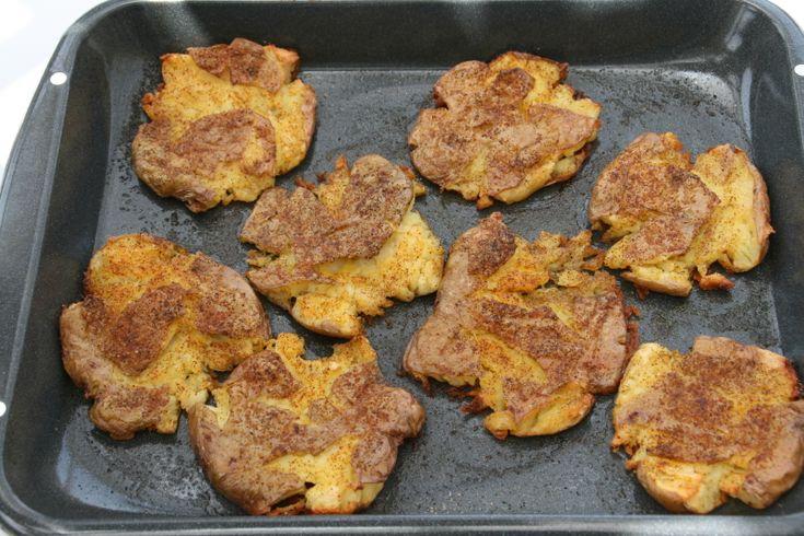 crispy smashed potatoes | Side Dishes | Pinterest