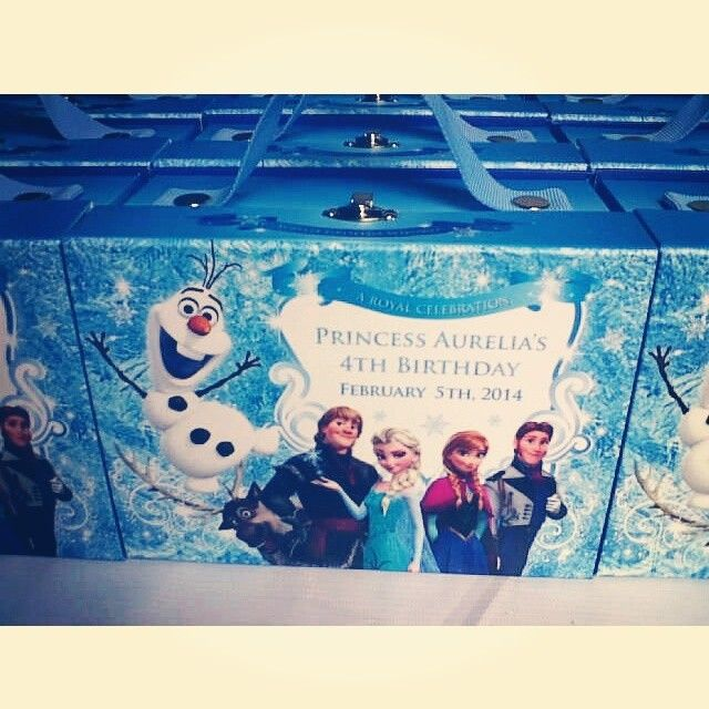 frozen goodie bags invitations ideas