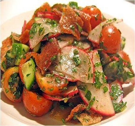 Fattoush Salad Recipe #stepbystep