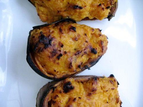Chipotle, orange, maple twice baked sweet potatoes
