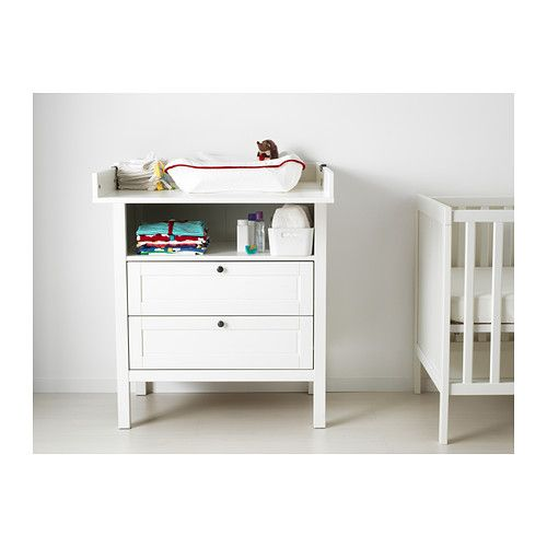 Ikea Patrull Klämma Barngrind ~ SUNDVIK Changing table chest of drawers, white