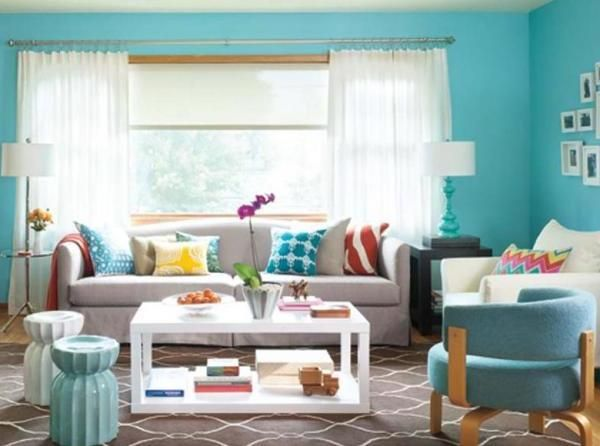 turquoise living room color schemes cozy living rooms