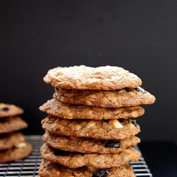 Maple, White Chocolate And Cherry Oatmeal Cookies