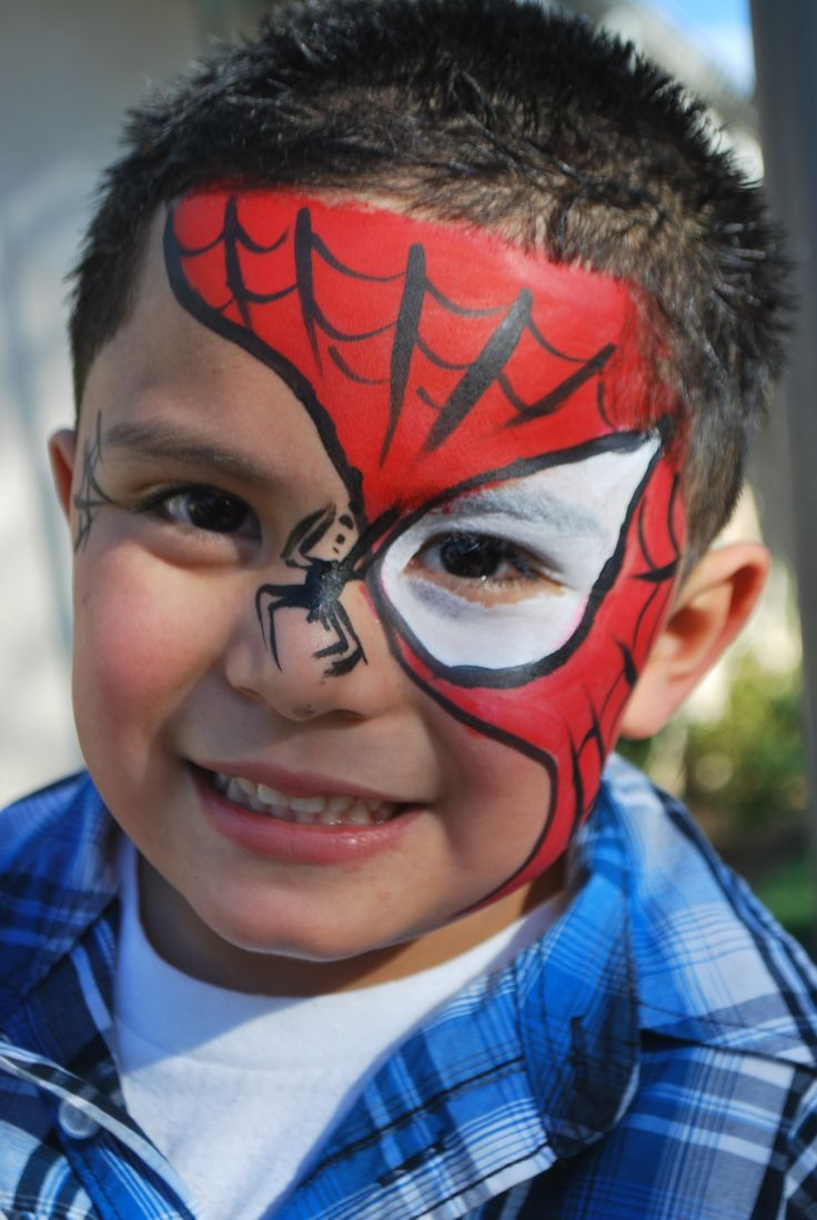 Black Spider Man Face Paint