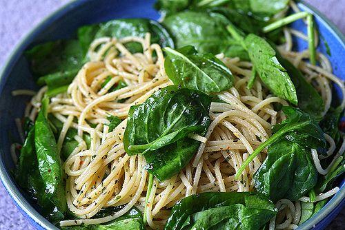 Aglio e Olio with Spinach