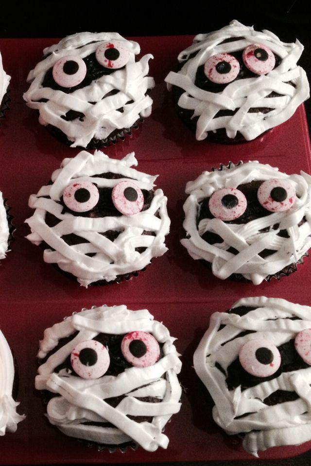 Low-Fat Chocolate Mummy Cupcakes Recipes — Dishmaps