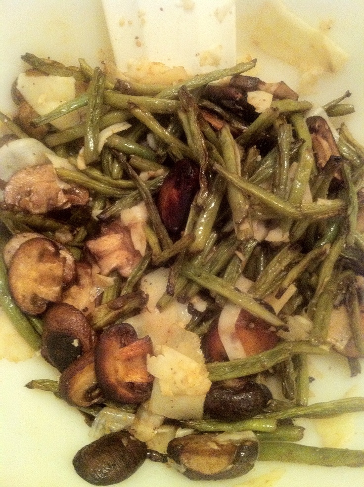 Roasted Green Beans & Mushrooms by me. These are also super easy ...