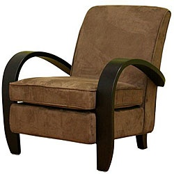 With a microfiber upholstery brown club chair living room furniture