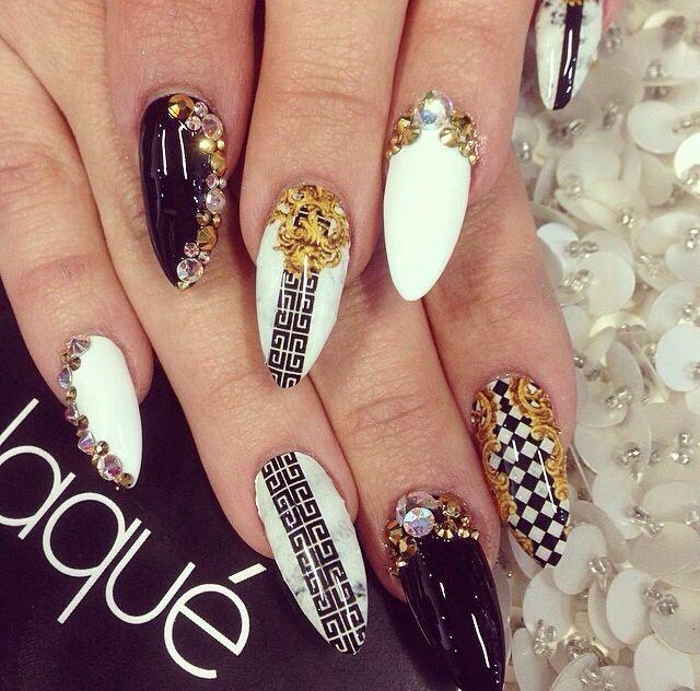 Ногти версаче дизайн
