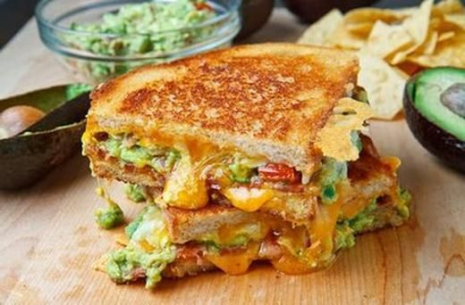 Bacon Guacamole Grilled Cheese Sandwich | What's On The Menu? | Pinte ...
