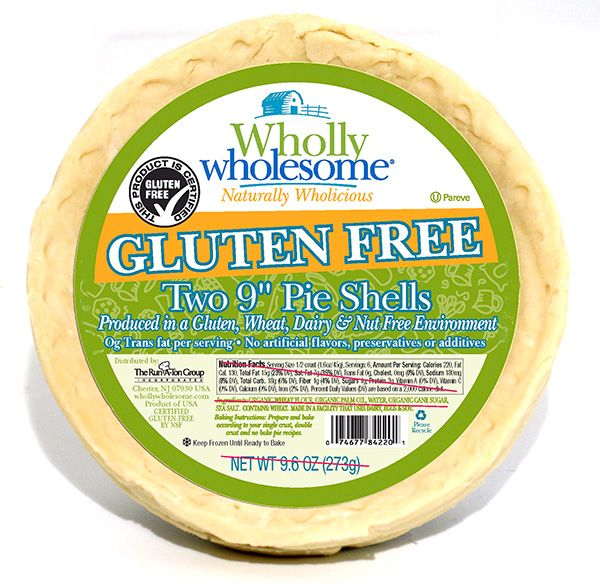"""Wholly Wholesome™ Gluten Free 9"""" Pie Shells"""