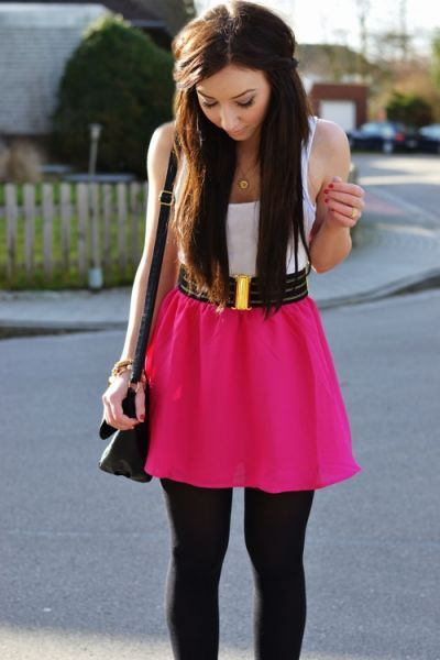 Pink skirt outfit | Fashion | Pinterest