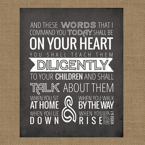 Deut 6:6,7 // And These Words // Digital Art Print // 8x10 // Instant Download