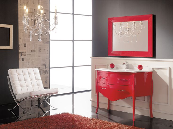 Muebles De Baño Rojos:Bathroom with Red Walls