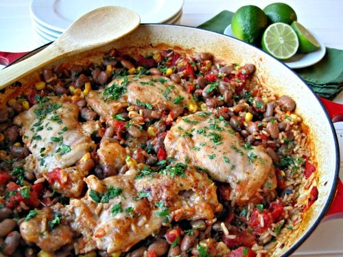 One-Pot Chicken and Beans with Rice | Gluten Free Foods | Pinterest