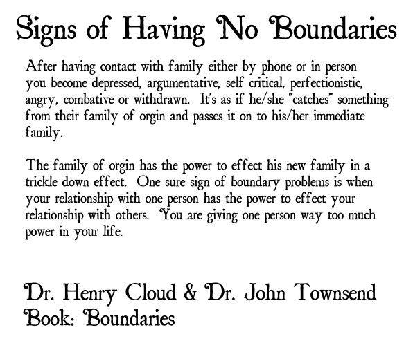 Henry cloud john townsend boundaries dating