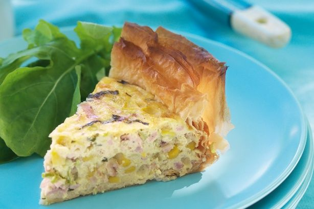 Basil, bacon and corn pie | Tarts, Muffins & Pie Recipes ...