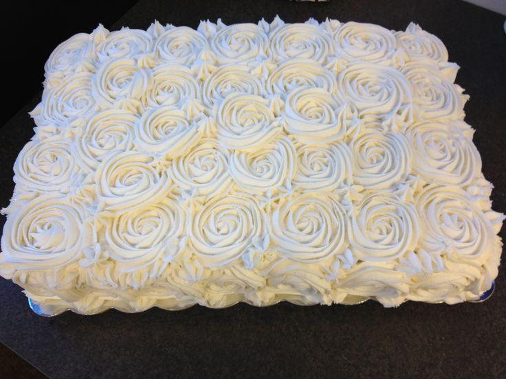 Sheet Cake Wedding Rose Wedding Sheet Cake