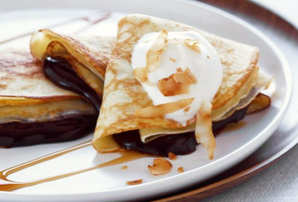 Chocolate-Coconut Crepes. If these babies don't turn you into a ...