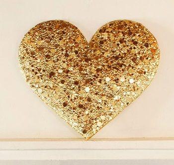 Gold heart wall decor gold pinterest - Heart wall decoration ...