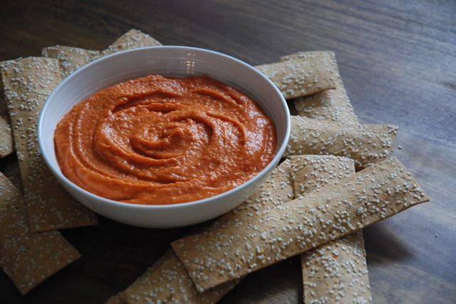 How to: Snack Healthy – Roasted Red Pepper and White Bean Dip