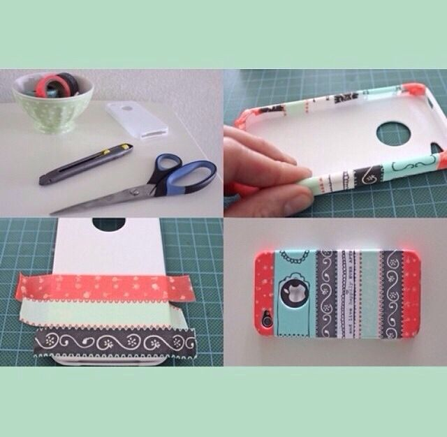 Diy phone case crafts pinterest for How to make a homemade phone case
