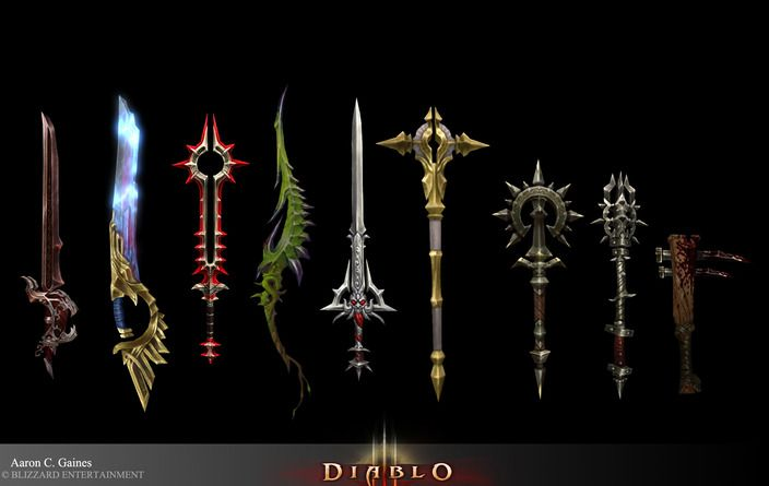 Diablo 3 weapons by goons aaron gaines cghub via pincg com