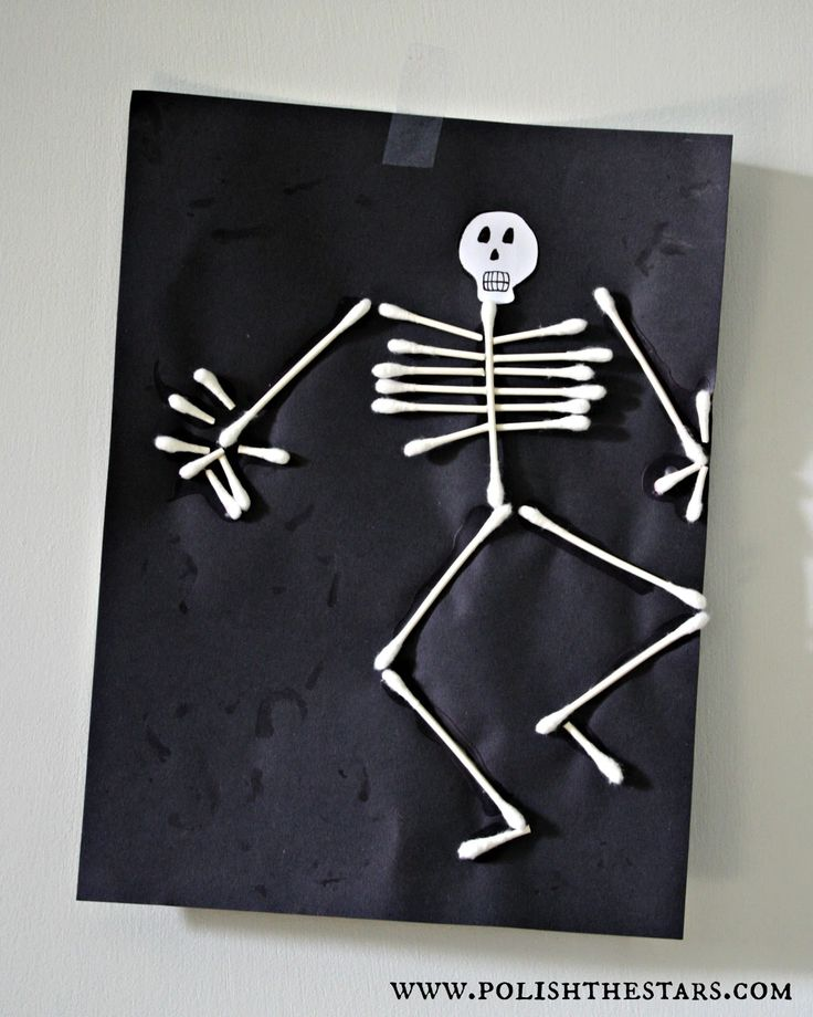 Q tip skeleton just for kids pinterest for Q tip skeleton craft template