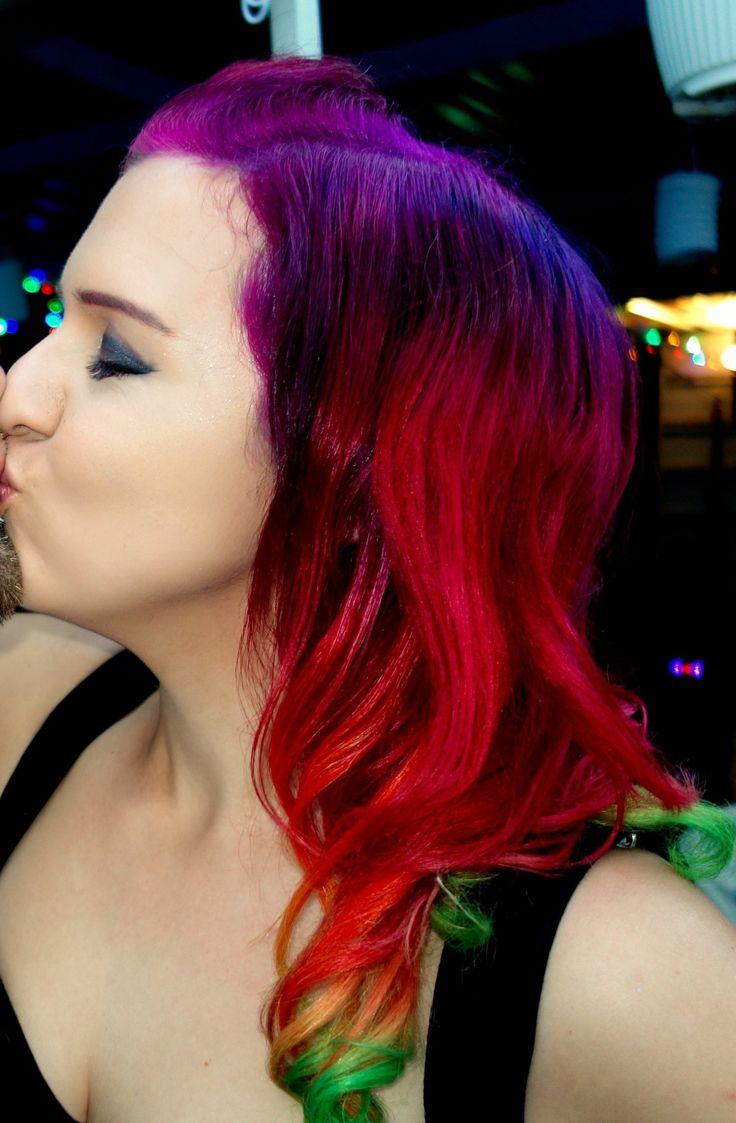 How To Pull Off Rainbow Ombre Hair Dailybeautyhackcom Of