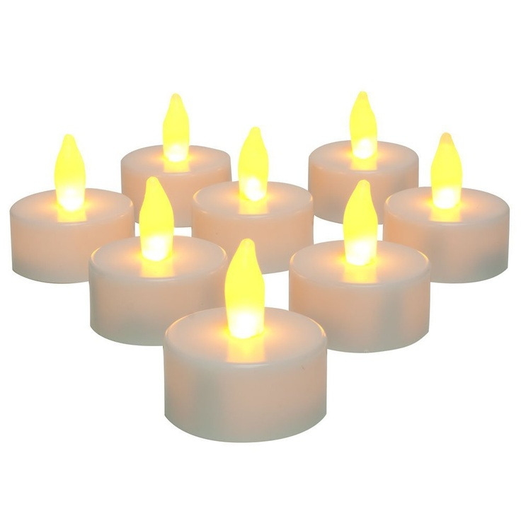 Inglow CG10026WH8 Flameless Tea Light Candle, White, 8-Pack Price: $7