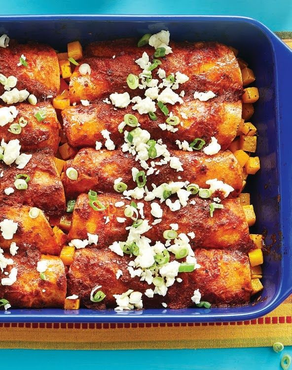 Butternut Squash Enchiladas | Yummy Recipes for Dinner