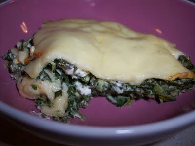 "Lapband Eating 4 Life: Crustless Spinach Muenster ""Quiche"""