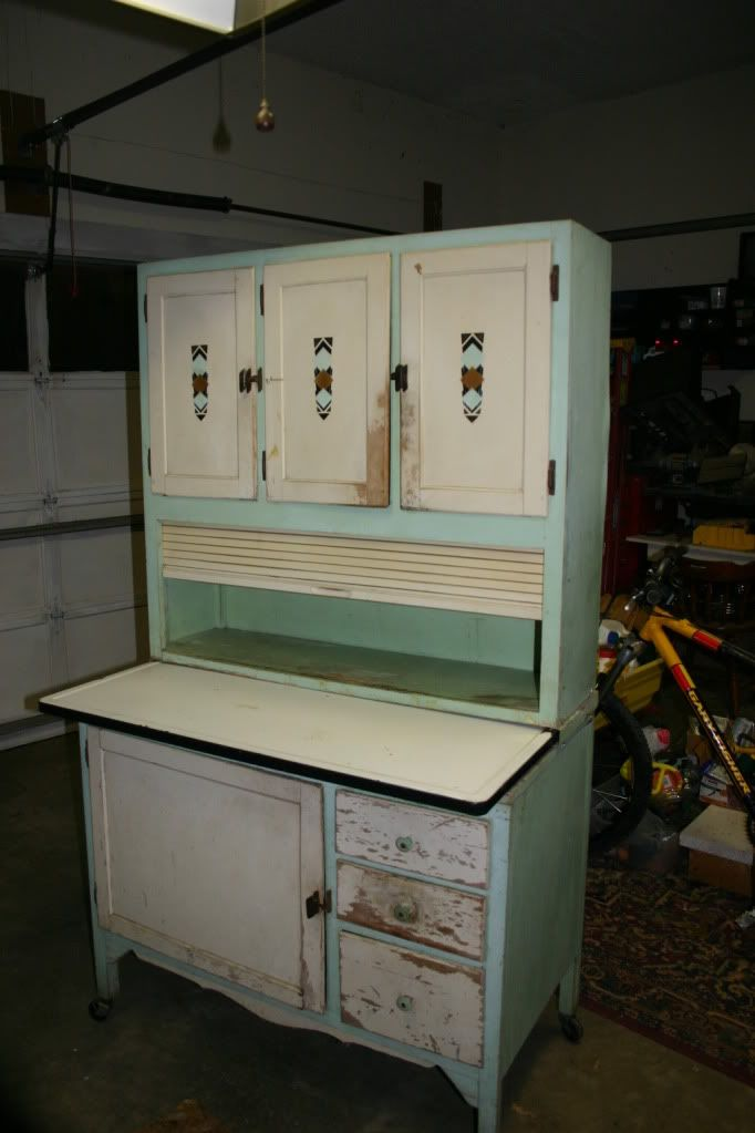 Sellers Pride No 528 Hoosier Cabinet Original Paint And Hardware