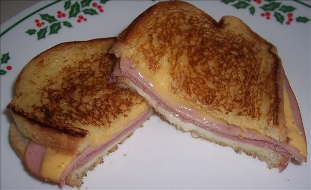 Grilled Ham and Cheese sandwiches (I prefer to keep it simple, using ...