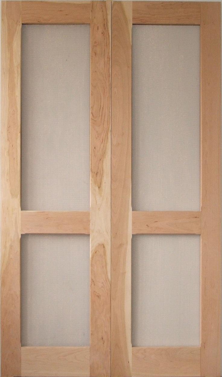 Traditional screen storm door double gardenia model for Double storm doors