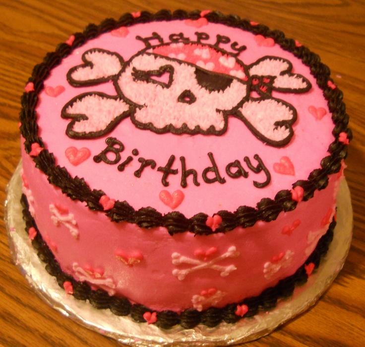 Skull Birthday Cake Photos