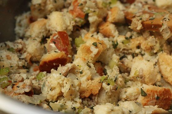 Chicken Sausage and Herb Stuffing | Recipe
