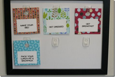 Love this idea for homeschooling or weekly meal plan or daily routines or... so many ideas!