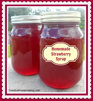 Easy recipe for homemade strawberry syrup to put on pancakes, ice ...