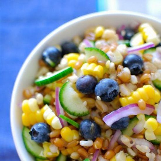 Ancient Grains Salad with Blueberries and Fresh Corn. The perfect ...