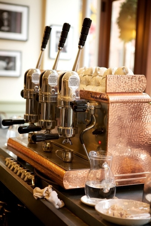 Vintage copper brass coffee machines coffee pinterest - Machine a cafe vintage ...