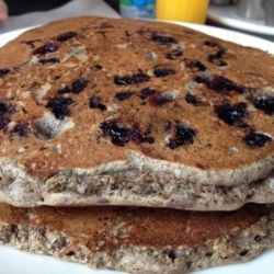 Blueberry Buckwheat Pancakes, gluten free, vegan