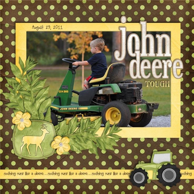 John Deere Tough - Scrapbook.com - #scrapbooking #layouts #digital