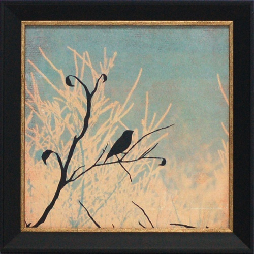 Sitting Framed Art Print Beautiful Bird Silhouette Against Sky
