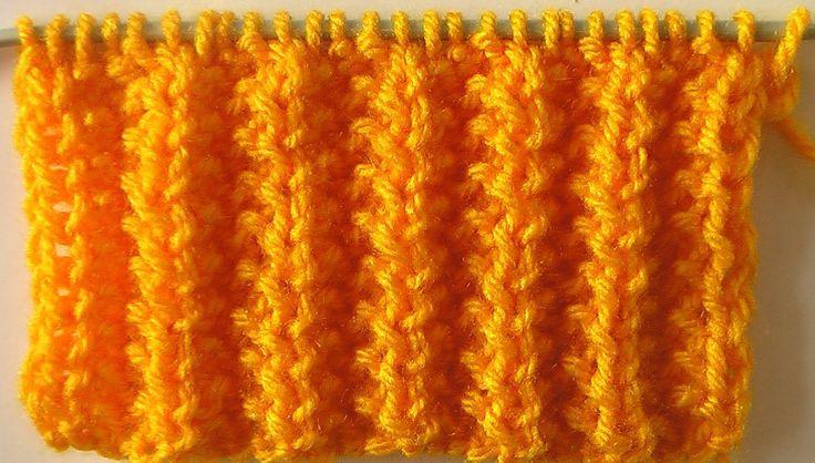Видеоуроки вязания английская резинка 45